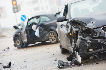 A car crash in Corona California